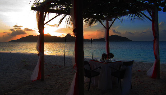 Private Beach Dining At Palm Island Resort - Palm Island, The Grenadines