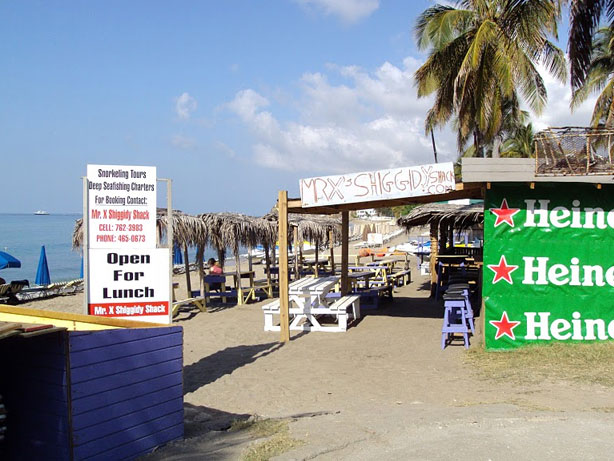 Mr. X's Shiggidy Shack Beach Bar - St Kitts