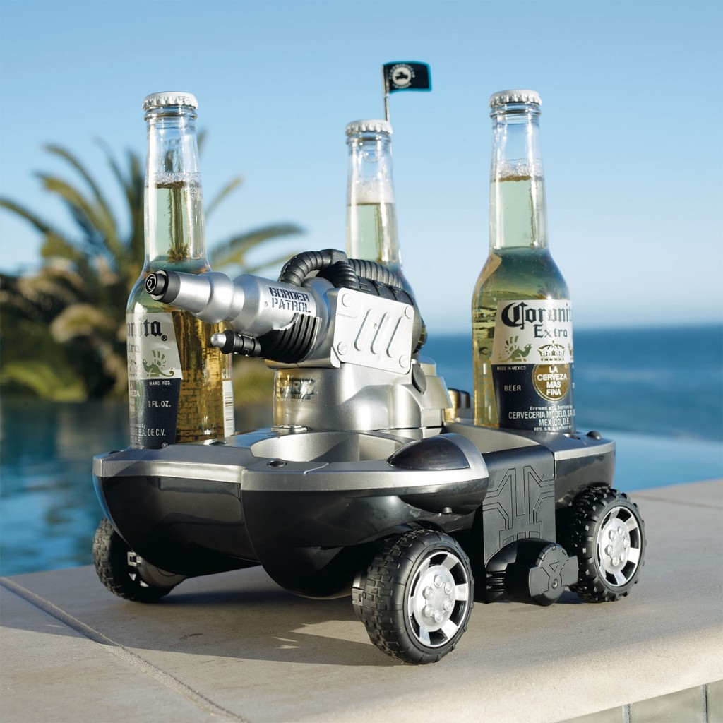 Remote Controlled Amphibious Beverage Delivery Vehicle