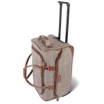 The Genuine Donegal Tweed Rolling Weekender Luggage