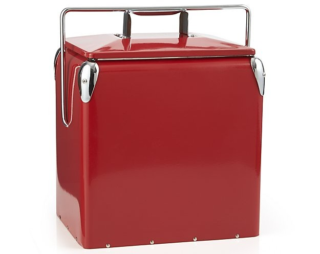 Add A Red Picnic Cooler To Your Beach Supplies